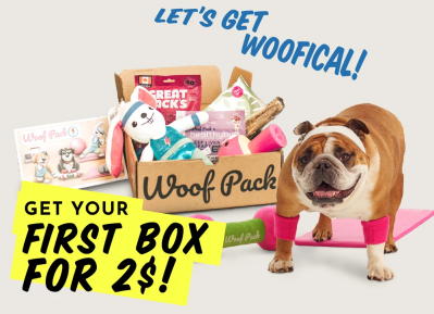 Woof Pack Coupon: Get Your First Box For Just $2 With 6+ Month Subscription!