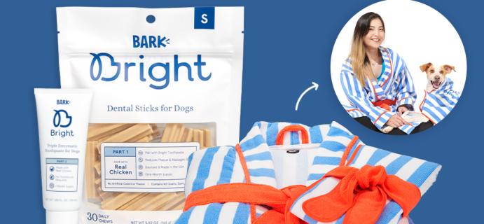 Bark Bright: FREE Human + Dog Bathrobe Bundle With First Dog Dental Kit!
