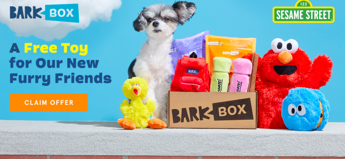 BarkBox Deal: FREE Sesame Street Toy With First Box!