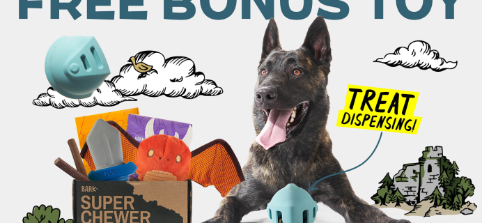 Super Chewer Deal: FREE Knight Helmet Toy With First Box of Tough Toys for Dogs!