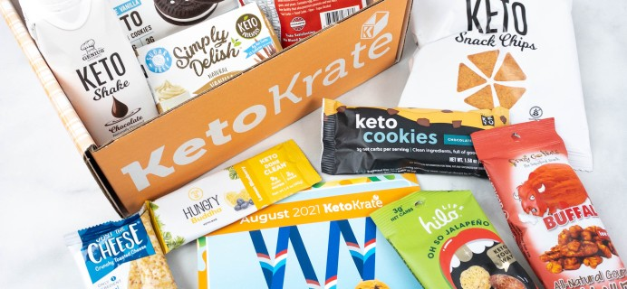 KetoKrate August 2021 Subscription Box Review + Coupon