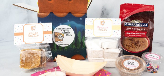 Marshmallow of the Month Club by Edible Opus Review: June 2021 Banana Split