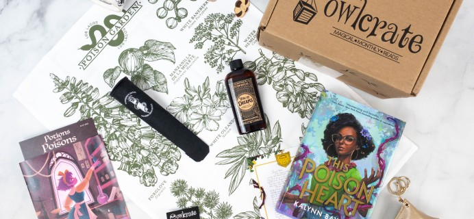 OwlCrate July 2021 Review + Coupon – POTIONS & POISONS!