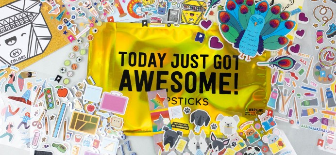 Pipsticks Kids Club Classic August 2021 Sticker Subscription Review + Coupon!