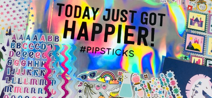 Pipsticks Pro Club Classic August 2021 Sticker Subscription Review + Coupon!