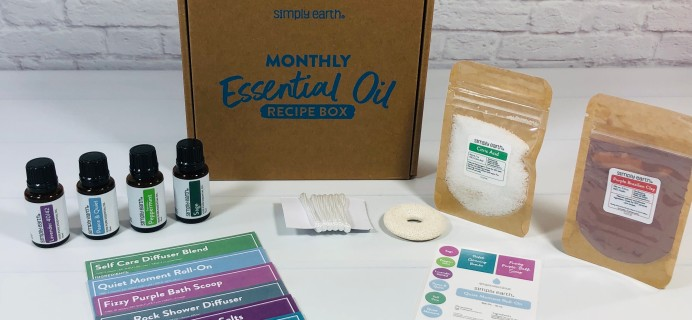 Simply Earth August 2021 Essential Oil Subscription Box Review + Coupon