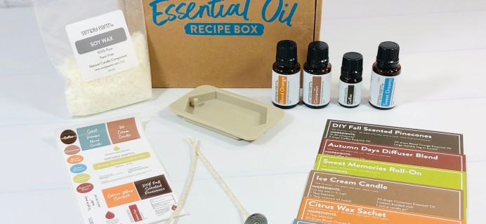 Simply Earth September 2021 Essential Oil Subscription Box Review + Coupon