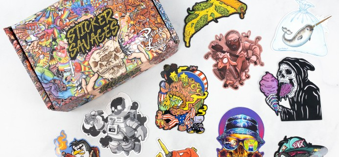 Sticker Savages July 2021 Subscription Box Review + Coupon