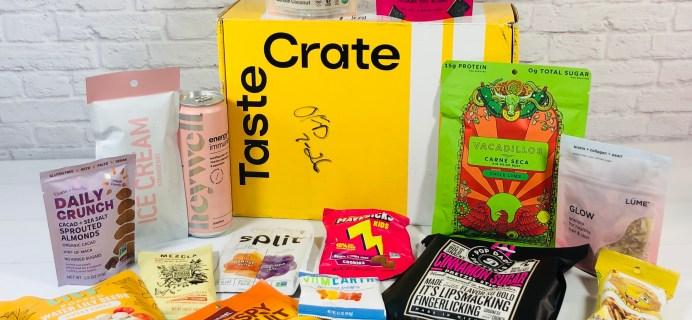 TasteCrate June 2021 Subscription Box Review