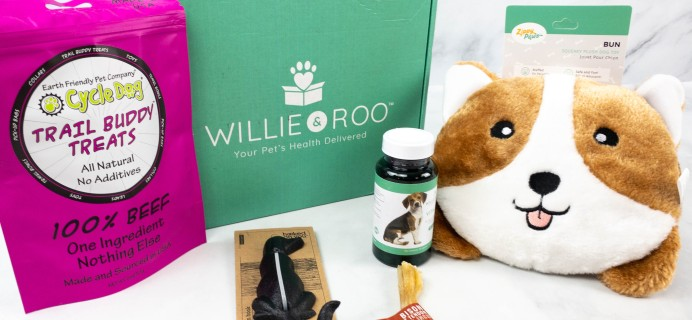 Willie & Roo Dog Subscription Box Review + Coupon – August 2021