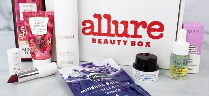 Allure Beauty Box September 2021 Review & Coupon