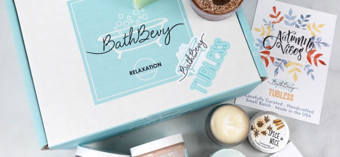 Bath Bevy TUBLESS BOX Review + Coupon – September 2021