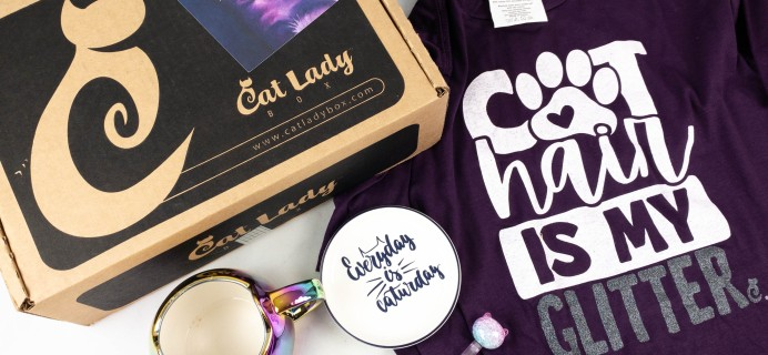Cat Lady Box September 2021 Subscription Box Review – PURRFECTLY PURPLE BOX!
