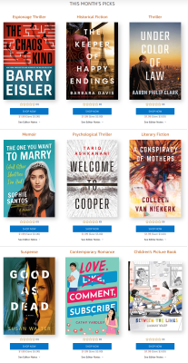 Amazon First ReadsSeptember 2021 Selections: 1 Book FREE for Amazon Prime Members