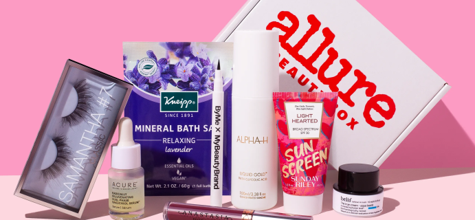 Allure Beauty Box September 2021 Full Spoilers + Coupon!