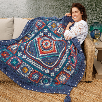 New Annie's Moroccan Tile Afghan Club Colorway Is Here + 50% Off Coupon!