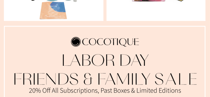 Cocotique Labor Day Sale: 20% Off + FREE Box Deal!