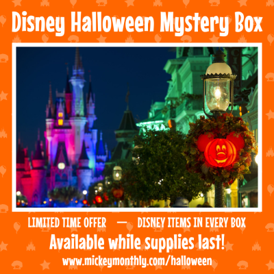 Mickey Monthly 2021 Halloween Mystery Box Is Here: Licensed Disney Halloween Items!