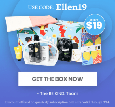 BE KIND by Ellen Box Coupon: First Box For Just $19!