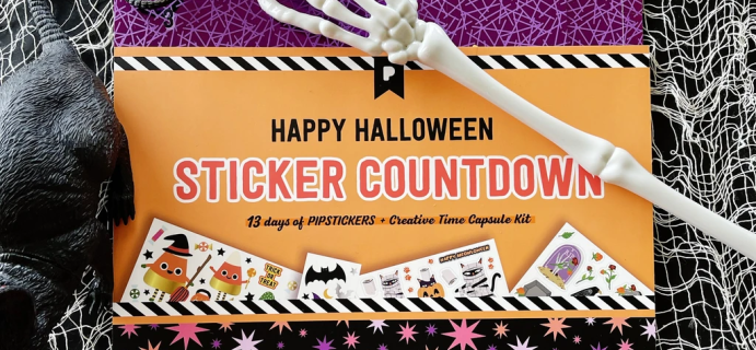 2021 Pipsticks Halloween Sticker Countdown Calendar!
