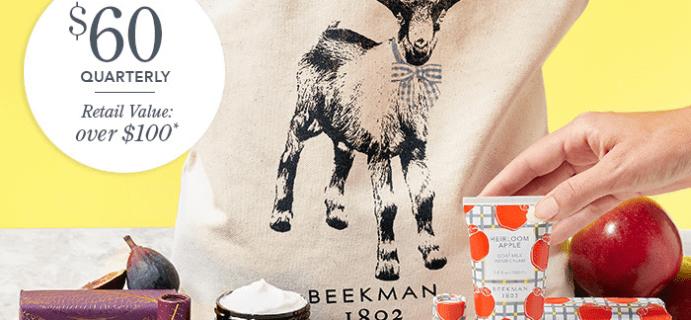 Beekman 1802 Seasonal Fragrance Tote Subscription Fall 2021 Full Spoilers!