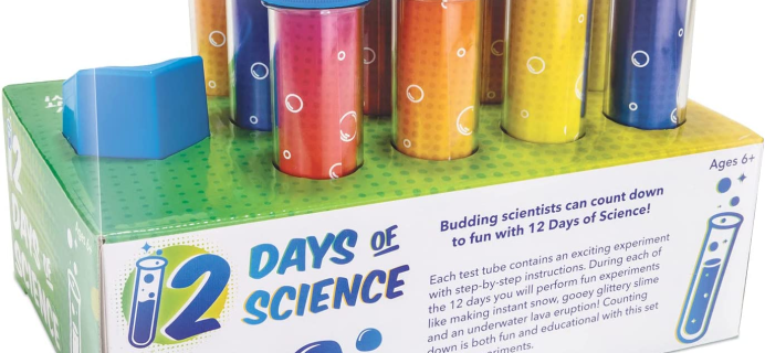 MindWare Science Advent Calendar: 12 Days of Test Tube Science Experiments!