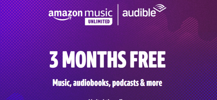 Amazon Music Unlimited & Audible Premium Plus Deal: 3 Months FREE!