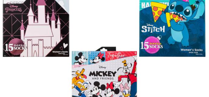 2021 Target Disney Women's Socks Advent Calendars: Mickey & Friends, Lilo & Stitch, Disney Princess!
