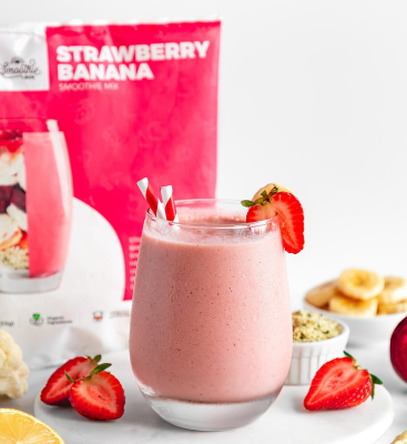 SmoothieBox Launches New Smoothie Flavor: Strawberry Banana!
