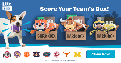 BarkBox & Super Chewer Limited Edition College Football Collection!
