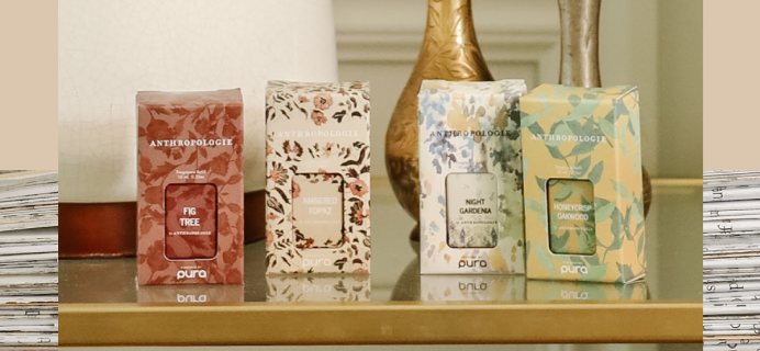 Pura Launches New Fragrance Collection: Anthropologie Scents Are Here!