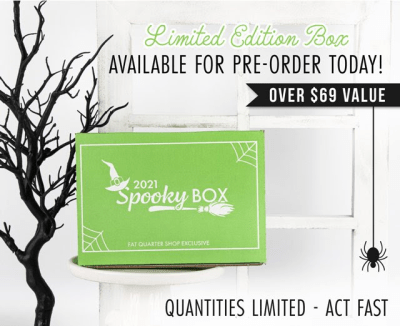 2021 Fat Quarter Shop Limited Edition Spooky Box: The Spookiest Box of the Year!