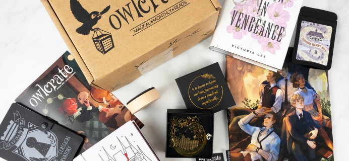 OwlCrate August 2021 Review + Coupon – DARK ACADEMIA!