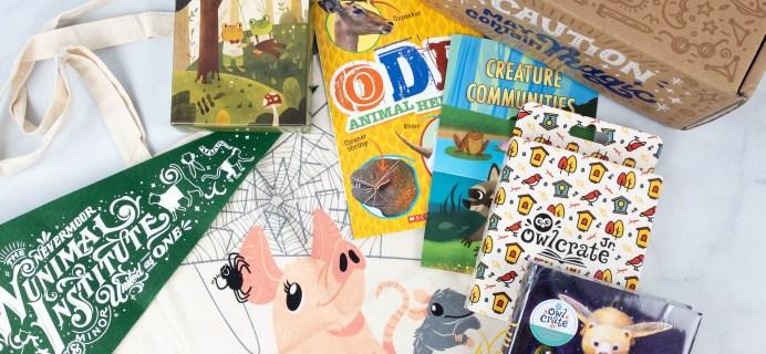 OwlCrate Jr. September 2021 Box Review & Coupon – CREATURE COMMUNITIES!