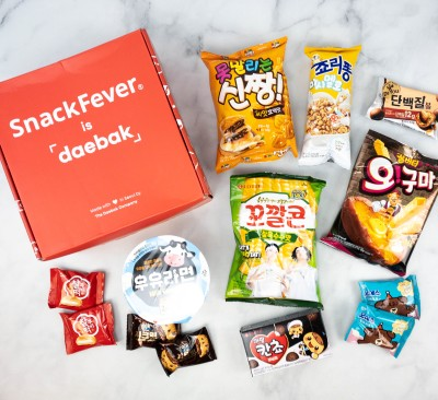 Snack Fever Unboxing + Coupon – August 2021 Deluxe Box!