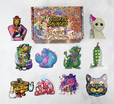 Sticker Savages September 2021 Subscription Box Review + Coupon