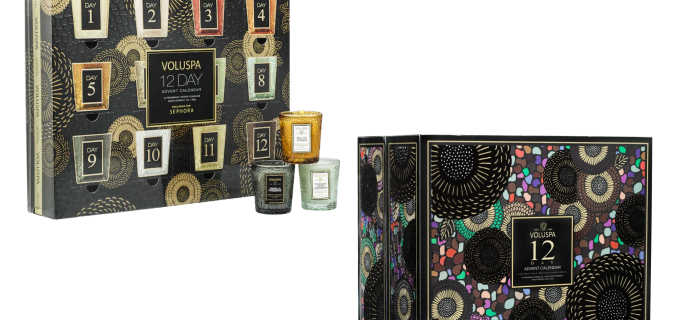 2021 Voluspa Advent Calendars Are Here: 12 Days of Daily Indulgence!
