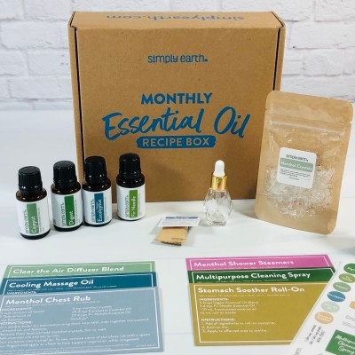 Simply Earth October 2021 Essential Oil Subscription Box Review + Coupon