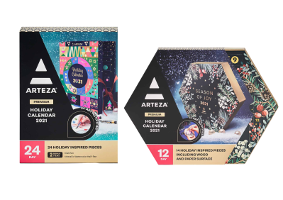 2021 Arteza Art Supplies Advent Calendars Full Spoilers + Coupon!