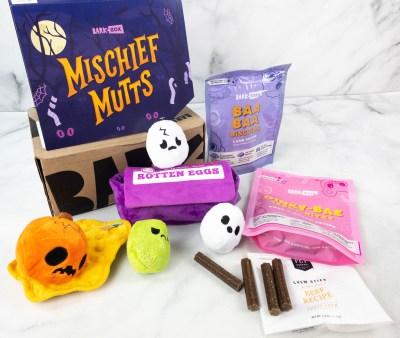Barkbox Review: October 2021 Mischief Mutts Box!