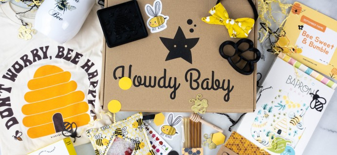 Howdy Baby Box Review + Coupon: September 2021 Bee Sweet & Bumble