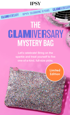 Ipsy October The Glamiversary Mystery Glam Bag Plus: 5 Full Size Products For That Awe-Worthy Look!