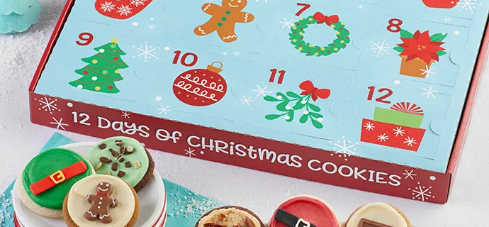 Cheryl's Cookie Advent Calendar 2021: 12 Days of Cookie Gift Box!