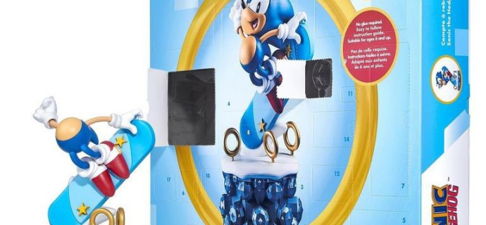 Sonic the Hedgehog Advent Calendar 2021: 24 Components To Build Your Own Sonic Figure!