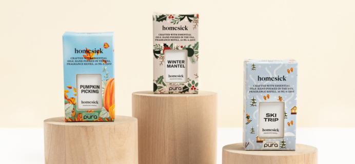 New Pura Homesick Fragrances: Pumpkin Picking, Ski Trip, and Winter Mantel!