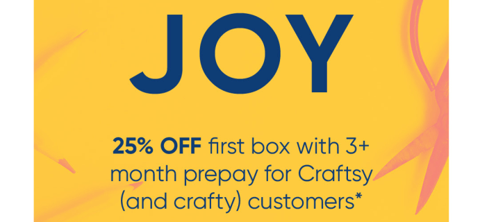 Cratejoy x Craftsy Sale: Save 25% On Subscriptions!