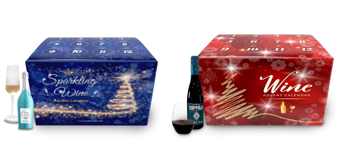 2021 Give Them Beer Wine Advent Calendars: Premium Wines and Sparkling Bubbly!