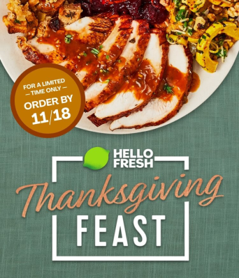 Hello Fresh Thanksgiving Box 2021: Turkey OR Beef Tenderloin + Coupon!