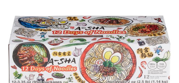 2021 A-Sha Noodles Advent Calendar: 12 Days of Mandarin Style Noodles!