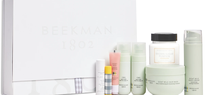 B. 1802 Beekman Beauty Box Winter 2021: Goat Milk Beauty Experience + Full Spoilers!